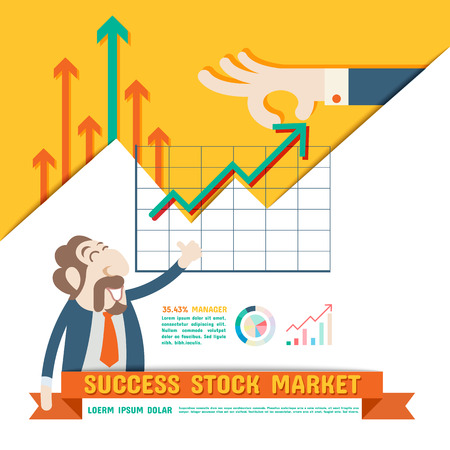 Success Stock Market Vettoriali