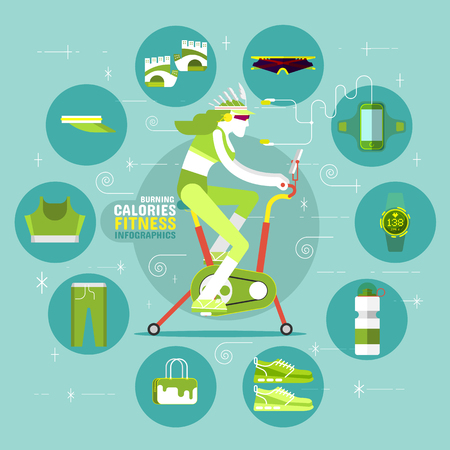 office wear: Burning Calories Fitness Infographics