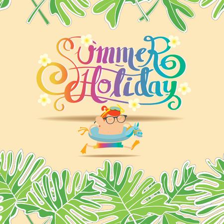 xanadu: Summer holiday background, Pattern Seamless A little boy running on the beach