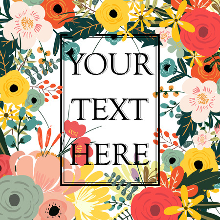 cover art: Flower with typography design templates background.