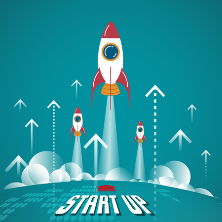 planeten: Start Up Business-Konzept. Neue Unternehmen auf diesem Planeten geboren.