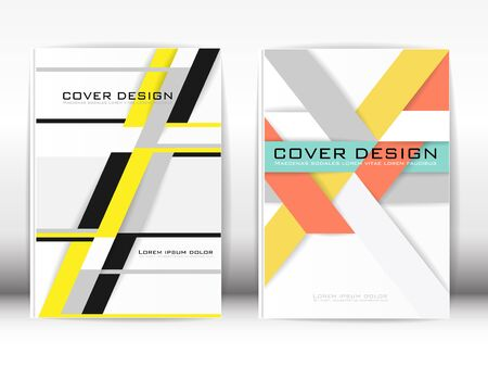 publication: Cover Design Template Publication Polygon graphics and white background. Illustration