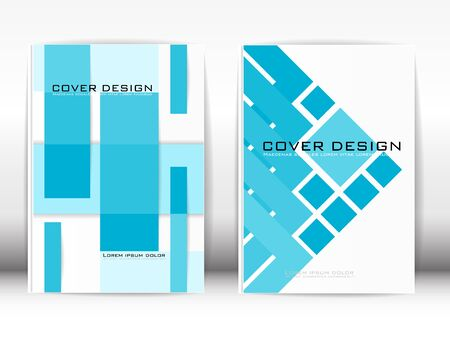Cover Design Template Publication Geometrical blue sky on white background.