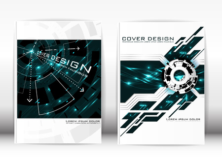 publication: Cover Design Template Publication Expression of modern technology