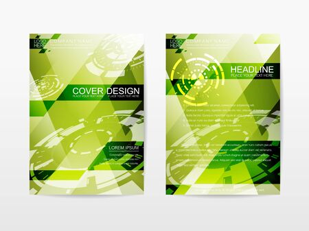 economy: Corporate Template Publication Cover Design Green Ecology themes color