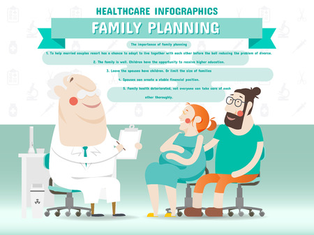 family planning: Family Planning Healthcare Infographics Illustration