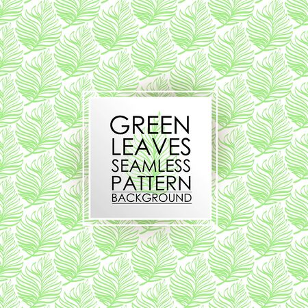 Patrón sin fisuras helecho verde deja el fondo.