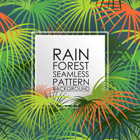 Patrón inconsútil de la lluvia bosque de fondo.