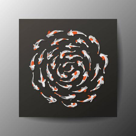 koi fish art: Koi fish background Illustration