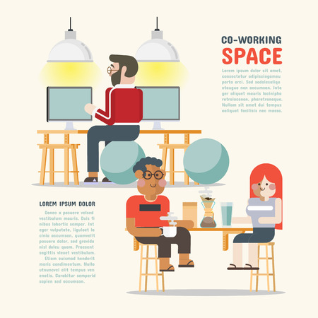 co work: Co-Working Space. The shared space to work together
