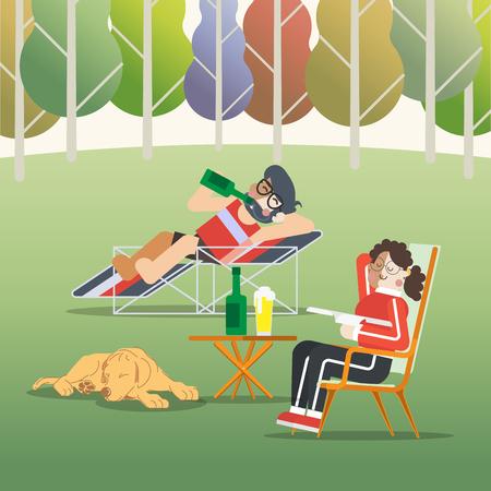 day: Lazy Day Illustration
