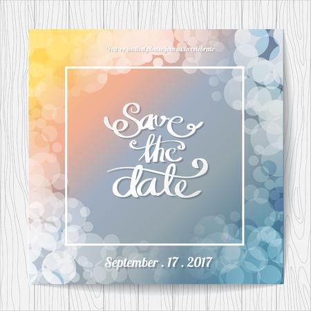 Wedding invitation card templates, Colorful background Illustration