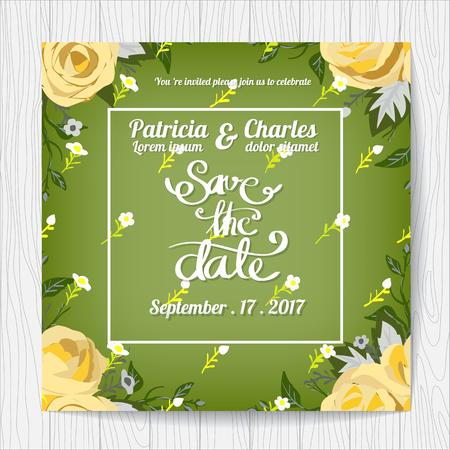blossom background: Wedding invitation card templates, Flower rose blossom seamless pattern background Illustration