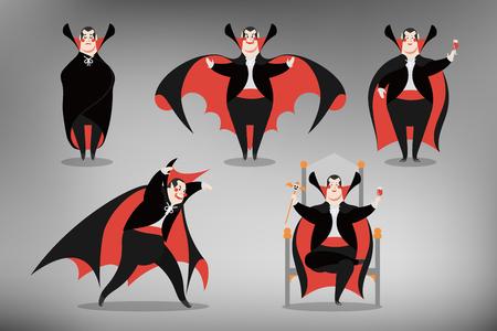 Halloween Character of dracula vector illustration