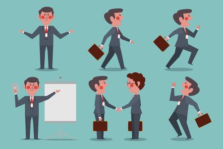 Businessman Character people design flat style vector illustration Illustration