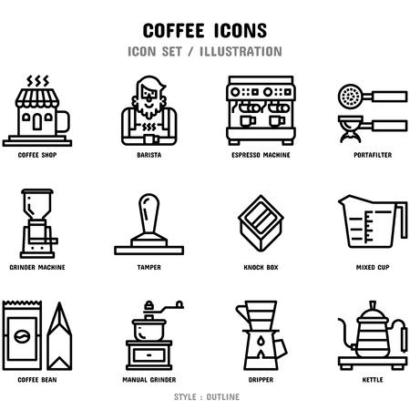 Koffie Icon Set Vector Illustratie