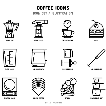 Coffee Icon Set Stockfoto - 111026748