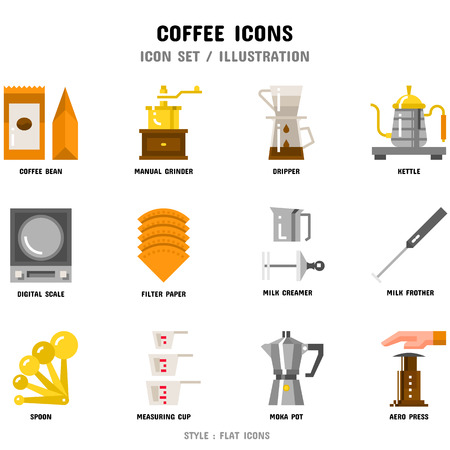 Coffee Icon Set Stock fotó - 111026752