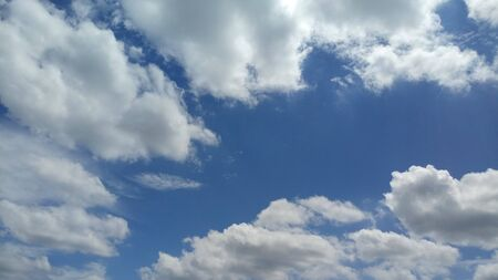 Image Of Clouds In The Sky Featuring Interesting Shapes Colors And Patterns