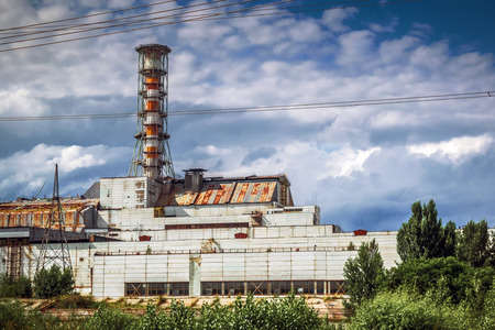 exclusion: Chernobyl, Ukraine - July 5, 2013: The Chernobyl nuclear power plant (Chernobyl exclusion zone) Editorial