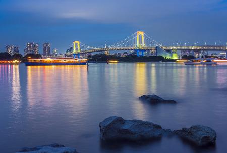 View of Rainbow Bridge from Tokyo Bay