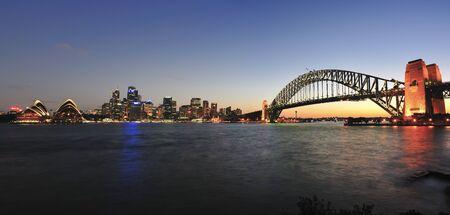 Sydney Harbour at sunset