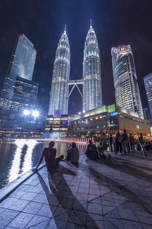 Petronas Twin Tower at night