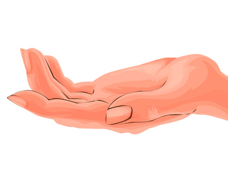 Hand realistic vector. Illustration isolated.