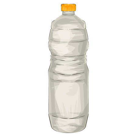 Illustration of a bottle of vinegar, cartoon style  イラスト・ベクター素材