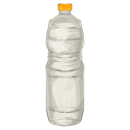 Illustration of a bottle of vinegar, cartoon style Illustration