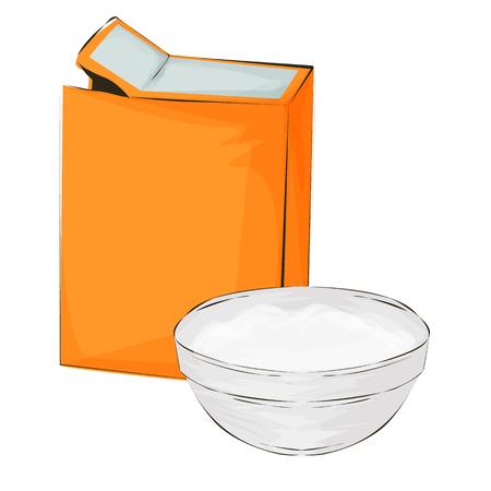 Baking soda vector illustration on a white background cartoon