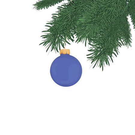 Christmas tree brunches illustration. 向量圖像