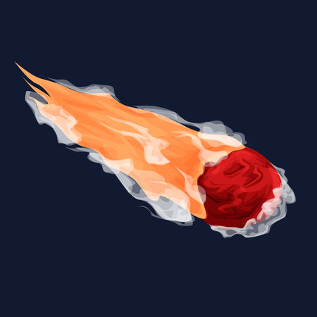 Asteroids cartoon illustration for games, posters, designers.