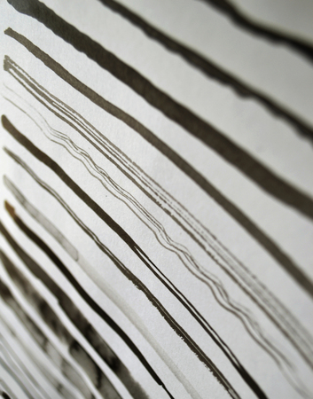Black ink abstract stripes background. Hand drawn lines. Ink illustration. Simple striped background