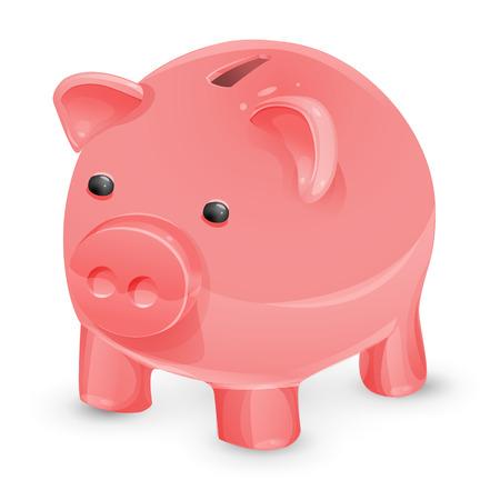 colorful piggy banks for money. Illustration of designer on white