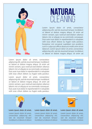 Natural Cleaning Infographic Baking soda and other ingridients