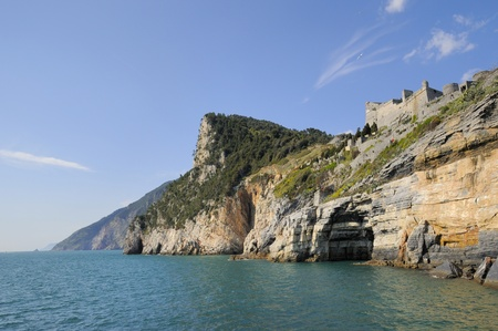 medieval fortress in Portovenere, Italy photo
