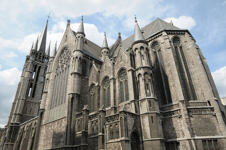 gothica: medieval style gothic church in brussels, belgium Stock Photo