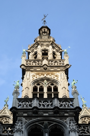 Top of medieval building on Grand Place in Brussels Stock Photo - 16425852