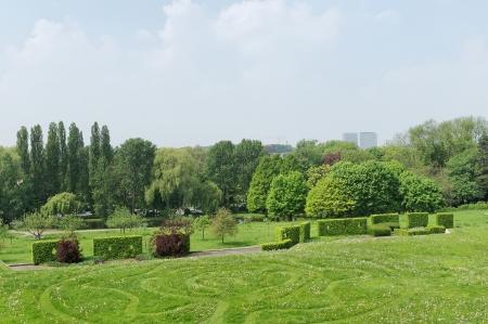 sobieski: Park Sobieski in Brussels, Belgium in spring