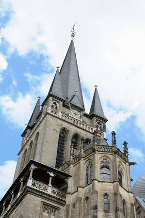 Tower of cathedral in Aachen, Germany