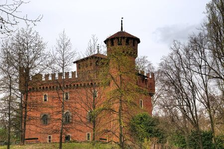 Borgo medievale in Turin in early spring