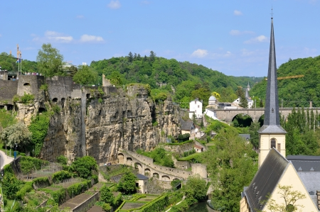 roman ruins area in Luxembourg city