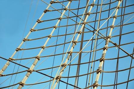 natation: Las cuerdas de barco de vela