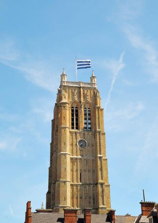 tranquille: Famous belfry tower in Dunkerque