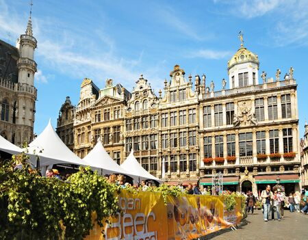 BRUSSELS, BELGIUM-SEPTEMBER 1: Annual Belgian Beer Weekend dedicated to Belgian beers started on Grand Place on September 1, 2012 in Brussels. In Belgium exists more than 450 different brews. Stock Photo - 16869098