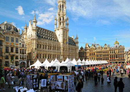 BRUSSELS, BELGIUM-SEPTEMBER 1: Grand Place hosts famous annual Belgian Beer Weekend dedicated to Belgian beers, started on September 1, 2012 in Brussels. Stock Photo - 16869064
