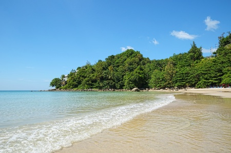 Kamala bay in Thailand island Phuket in sunny calm day photo