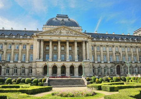 palais: Royal Palace in center of Brussels, Belgium