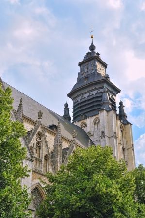 Medieval church De La Chapelle or Grand Sablon in Brussels was built beginning from 1134. photo